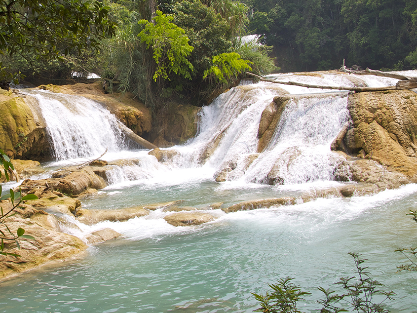 vista de la cascada de Agua Blanca